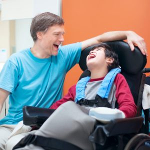 Parent with Child with Cerebral Palsy