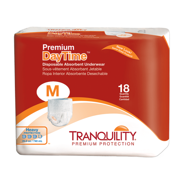 Tranquility Premium Daytime Disposable Absorbent Underwear (DAU) – M (2105) Package