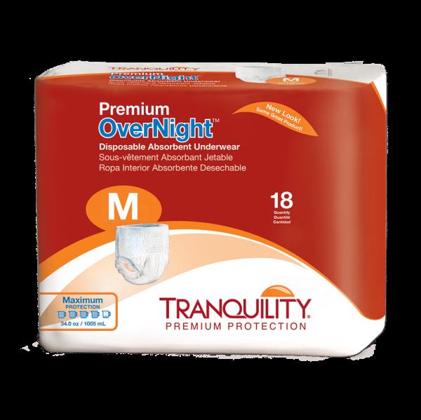 Premium Overnight Disposable Absorbent Underwear – M (2115) Package
