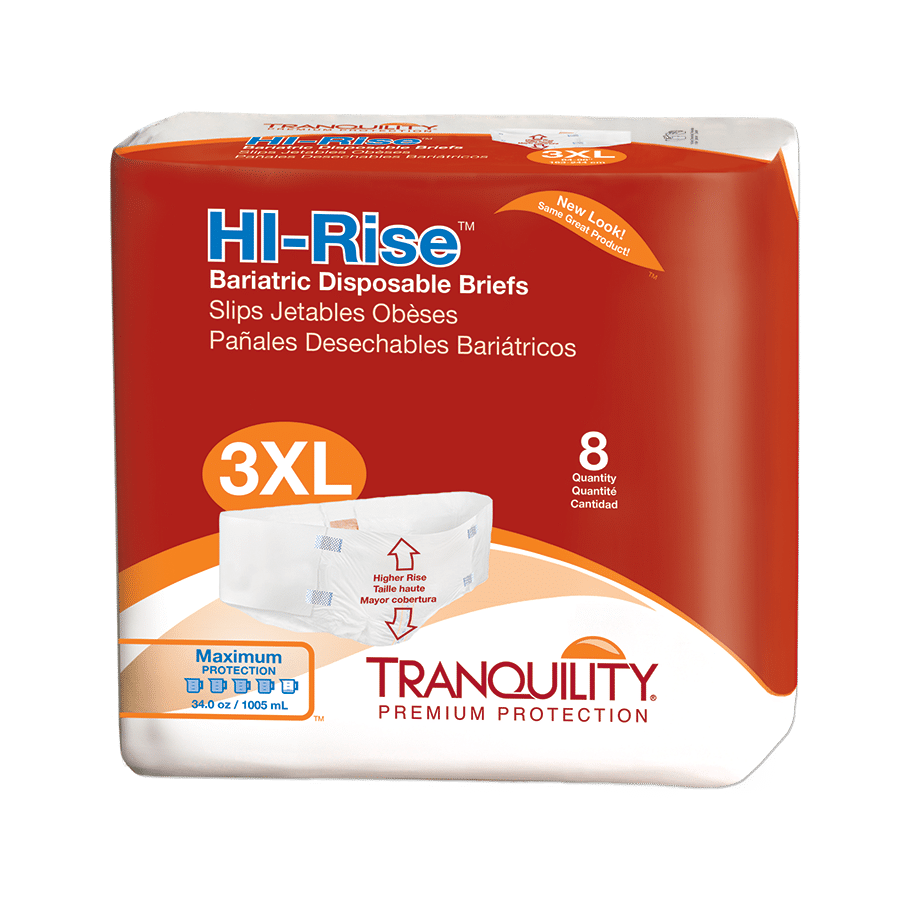 Tranquility Brief Hi-Rise Bariatric – 3XL (2192) Package. Tranquility Brief  Hi-Rise Bariatric – 3XL (2192) Package