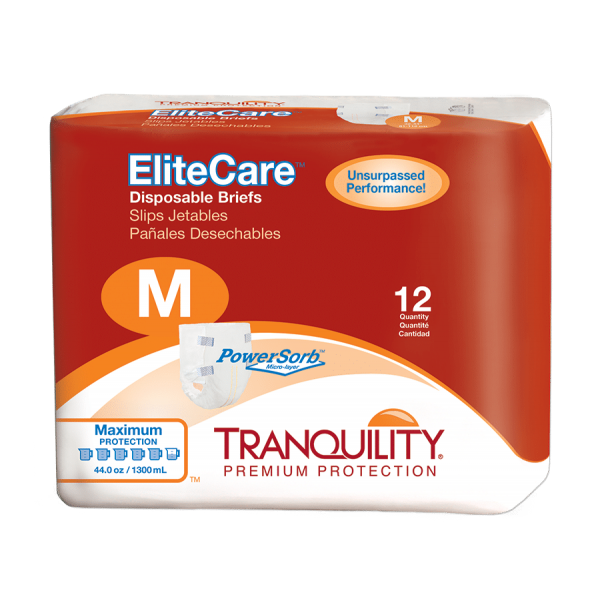 Tranquility EliteCare Disposable Brief – M (2412) Package