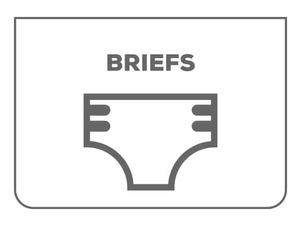 Briefs Products - Tab Style Fits XS-2XL