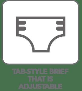 Tab-Style Brief That is AdjustableTab-Style Brief That is Adjustable