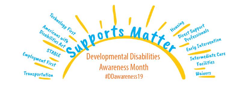Developmental Disabilities Awareness Month Logo