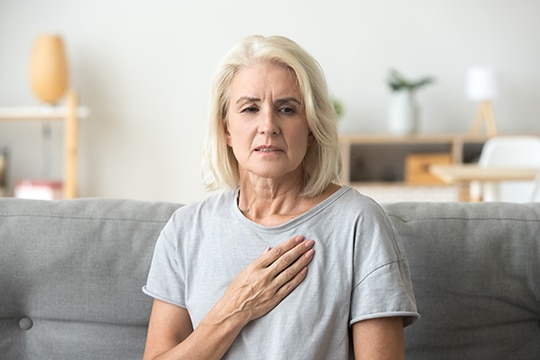 Worried Woman, Heart Problem