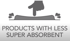 Products with less super absorbent